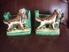 Vintage Original Pair of McCoy Setter/Retriever Planter/Bookends. HTF! L@@K!