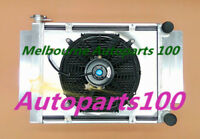 For Mazda radiator&shroud&fan RX2 RX3 RX4 RX5 RX7 without heater pipe Aluminum