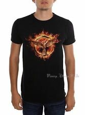 New The Hunger Games Flaming Mockingjay Logo Tee Shirt T Mocking Jay Mens Medium