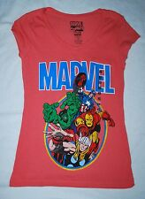 NEW - Marvel Comics Movie Pink Iron man Hulk Thor Captain (XS)