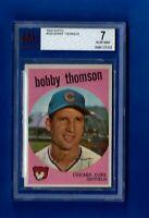 1959 TOPPS BASEBALL #429 BOBBY THOMPSON BVG 7 NEAR MINT CHICAGO CUBS