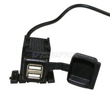 Motorcycle Black USB Charger For Honda VT VTX1300 VTX1800 TYPE C R S N RETRO