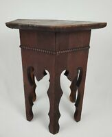 Vintage Arts And Crafts Mission Hexagon Oak Taboret Table Plant Stand