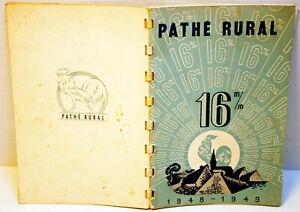 RARE Catalogue PATHE RURAL 16 mm -1948/49 - 64 pages - 16 x 24 cm