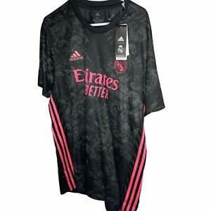 Adidas Men's Real Madrid 20/21 Third Soccer Jersey Black GE0933 size 2XL New