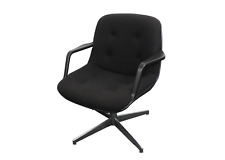 70s Mid Century Modern MCM United Chair Swivel Office Chair Recline Black UAW GM