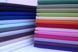 Plain, Solid 100% Cotton Fabric, Sewing, Craft, ROSE & HUBBLE, Sheeting