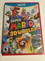 Wii U 2013 Super Mario 3D World Nintendo Game Brand New & Factory Sealed *Read*