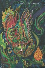 RICK STRASSMAN SIGNED BLOTTER ART & PIC COA Author/Film DMT: THE SPIRIT MOLECULE