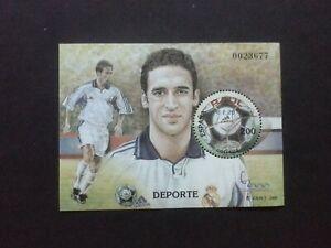 ESPAÑA 2000, Raul  Futbol   Real Madrid Hoja Bloque Nueva MNH **, Ed. 3761