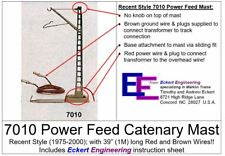 """Ee 7010 New Recent Style Power Feed Catenary Mast w 39"""" Wires Instructions Obx"""