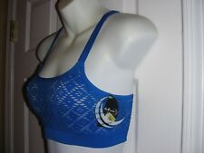 HM99008 Half Moon Active Sports Bra, Dazzling Blue,Small, NWT