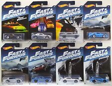 2017 Hot Wheels: FAST & And FURIOUS Walmart Exclusive - COMPLETE 8 Car Set - NEW