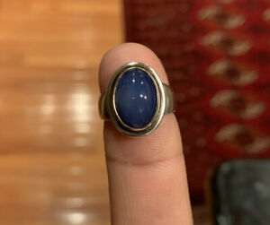 GEORG JENSEN #46B sterling silver ring with lapis lazuli size 5.5