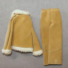 Barbie Ken 1970s Clothes Pants Vintage Pantsuit Jacket Faux Fur Suede Lot of 2