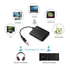 US Wireless Bluetooth Audio A2DP Transmitter&Receiver 3.5MM TV MP3 Music Adapter