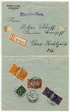 GERMANY 1923 APRIL REG.INFLATION COVER...OBERAMMERGAU
