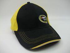 Nascar Sprint Cup Series Hat Black Yellow Hook Loop Baseball Cap