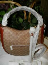 NEW IN BAG  COACH 38580  SUTTON SIGNATURE CANVAS HOBO BAG     *FREE SHIPPING