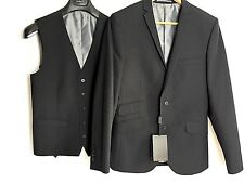 BEN SHERMAN Two Piece Suit Jacket Waistcoat NEW 36 R bnwt