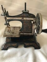 Vintage Toy Sewing Machine Tin Germany Child's Antique Crank