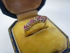 A Very Pretty Ladies Diamond and Pink Topaz Ring Size F, 1.3g, Small Sized