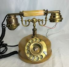 Vtg Telart Electronics Telephone Italy Onyx Viareggio Italian Rotary Phone