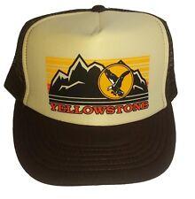 Yellowstone Park  Montana Wyoming  Snapback Mesh Trucker Hat Cap  BT
