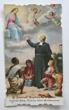 Antique HOLY CARD Vintage die cut St John Baptist angels ethnic child halo bless