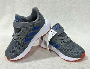 adidas Duramo 9 I Grey/Blue/Red Boy's Toddler Sneakers - Size 7K NWB EE9006