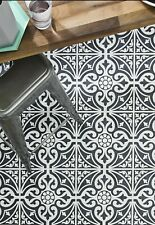 Victorian Vintage Pattern Tiles 33x33 Porcelain Black And White Devon stone
