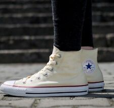 New Converse All Star Hi Top Chuck Taylor Trainers Ecru/Beige Size UK 3.5 EUR 36