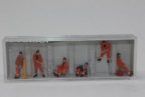 Preiser 10444 Gleisbautrup 6 Figurines Neuf en Emballage D'Origine H0 1:87