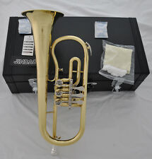 Professional Gold Bb Rotary Flugelhorn Flugel Horn with new case mouthpiece