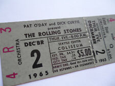ROLLING STONES__1965__Original__UNUSED__CONCERT TICKET__Seattle__EX+