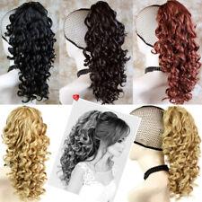 Spiral Curly Hair Piece Blonde,Black,Brown,Red Ponytail Irish Dance Extension