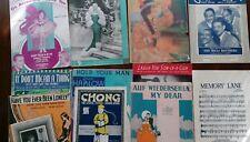 10 Piece LOT Antique Sheet Music Shirley Temple, Mae West, Clark Gable