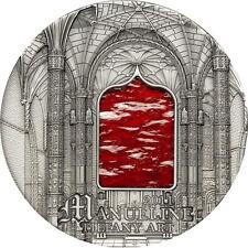 Palau 2011 10$ Tiffany Art Manueline 2oz Silver coin Antique Finish