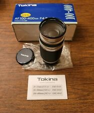 Tokina AF 100-400mm f4.5-6.7 Lens, NIKON MOUNT Digital SLR