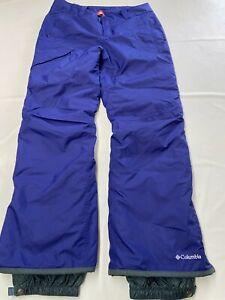 Womens COLUMBIA Purple Insulated Omni Heat High Volt Ski Snowboarding Pants Sz L