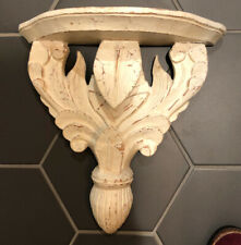 ~LOVELY FRENCH INSPIRED CHIPPY WHITE PETITE WALL SHELF COTTAGE CHIC~