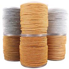 Kordel 3mm x 25m Schnur Lurex silber gold Farbvarianten schimmernd glänzend Deko