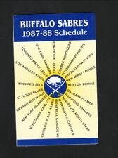 Buffalo Sabres--1987-88 Pocket Schedule--Marine Midland Bank