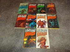 DOC SAVAGE ACTION SERIES~KENNETH ROBESON~TEN CONSECUTIVE BOOKS~71 THROUGH 80