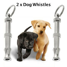 2 x Dog Whistle Ultrasonic Dog Puppy Training Whistle Adjustable Frequency Pitch