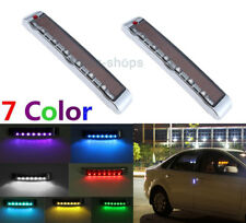 2Pcs Door Edge Guards Scratch Protector Solar LED Strobe Warning Lights For Ram
