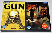 2 PC SPIELE BUNDLE WESTERN SHOOTER - DEAD MANS HAND & GUN