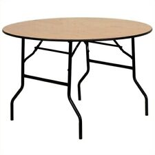 "Bowery Hill 72"" Round Wood Folding Banquet Table"