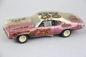 Vintage Monogram Stock Car Drag Racing Clear Body Plastic Model Kit Built