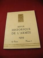 Revue Historique de l'Armée 1959 Numéro 1 Drago